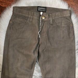 Current/Elliott Jeans - CURRENT/ELLIOTT Boyfriend Leather Pants in Smoky